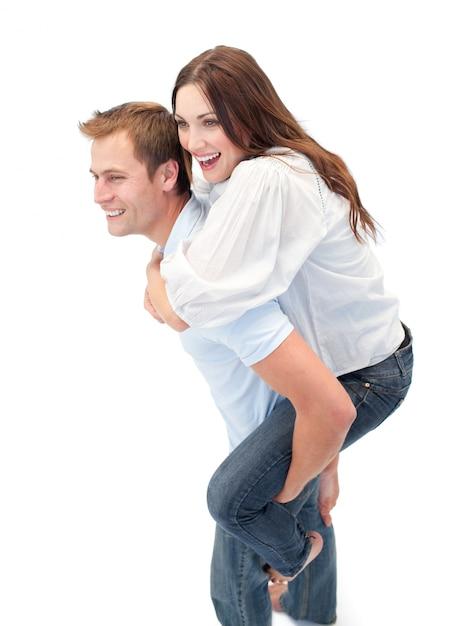 Картинки девушку катают на спине парня