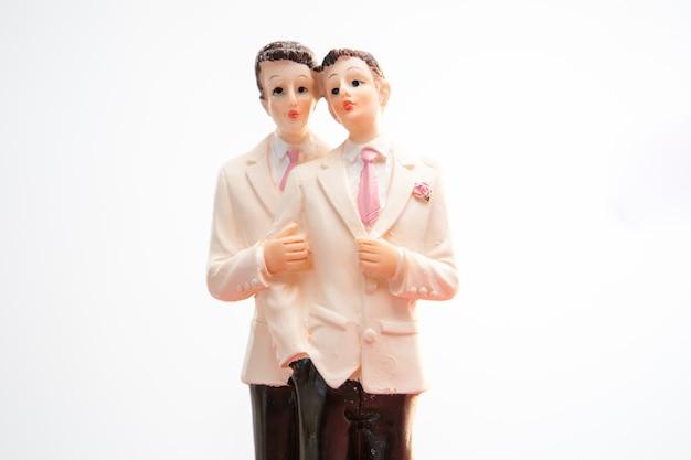 ゲイ・ウェディング・ケーキ・トッパー Premium写真