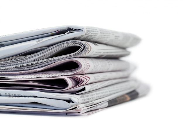 新聞の束 Premium写真