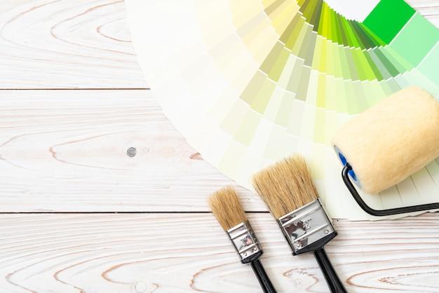 Типовой каталог цветов или книга образцов цветов Premium Фотографии
