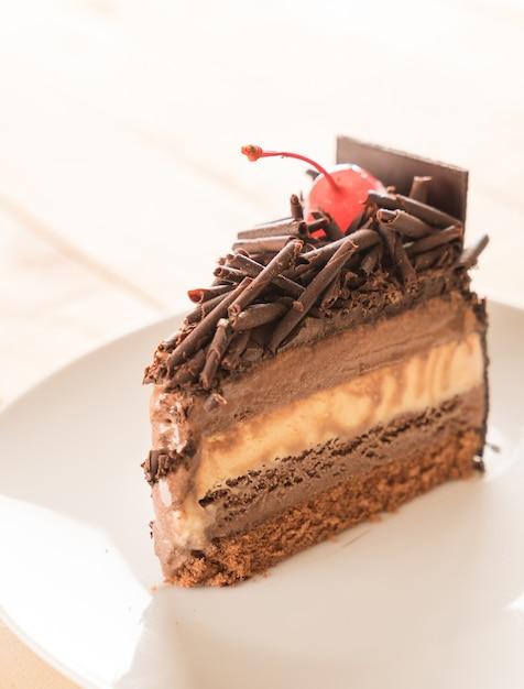 チョコレートアイスクリームケーキ 無料写真