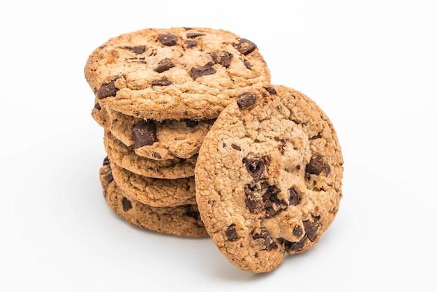 ダークチョコレートチップのクッキー Premium写真