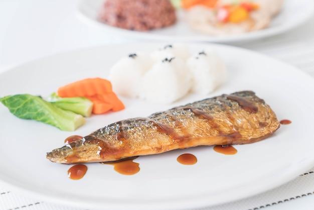 Рыбный соус на гриле саба Бесплатные Фотографии