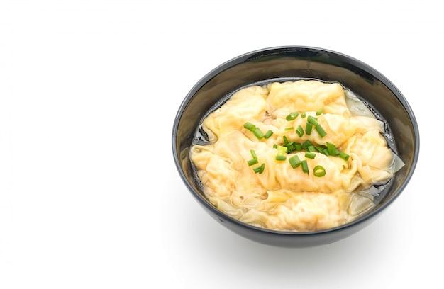 白ワントンスープ Premium写真