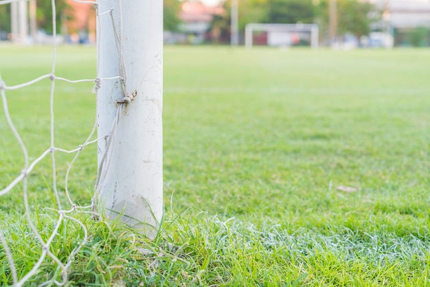 サッカーゴールサッカーグリーングラスフィールド 無料写真
