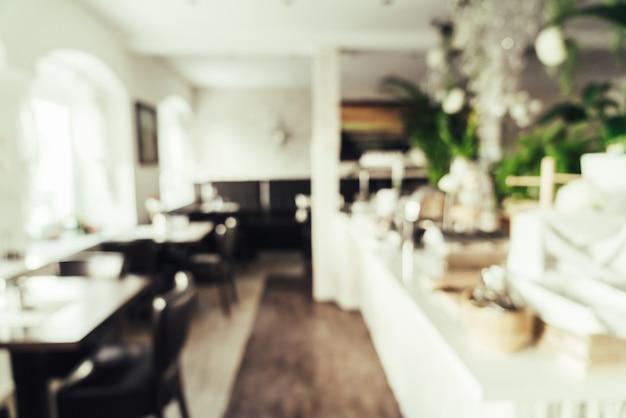ホテルのレストランで抽象的なぼかし Premium写真