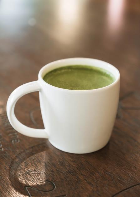 緑茶ラテ 無料写真