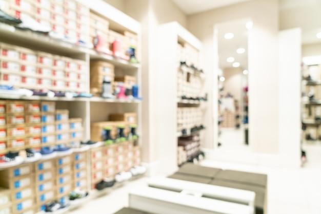 ショッピングモールや小売店で抽象的なぼかし Premium写真