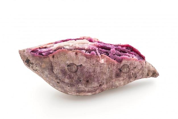 分離された紫色のサツマイモ Premium写真