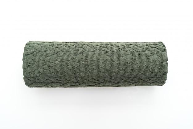 白地に緑のタオル Premium写真