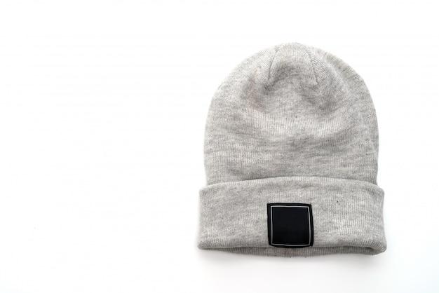 グレーのウールの帽子 Premium写真
