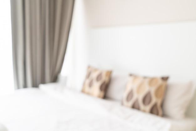 抽象的なぼかしと背景をぼかした写真として多重寝室のインテリア Premium写真