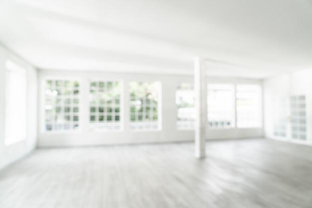 抽象的なぼかしガラス窓と空の部屋 Premium写真