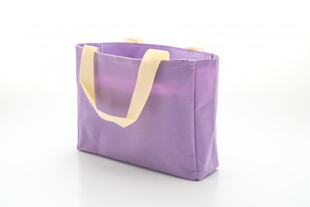 Тканевая сумка на белом Premium Фотографии