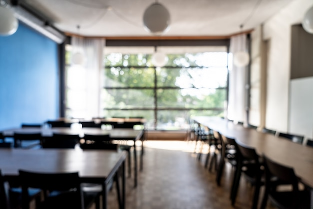 抽象的なぼかしとホテルのレストランでデフォーカス Premium写真