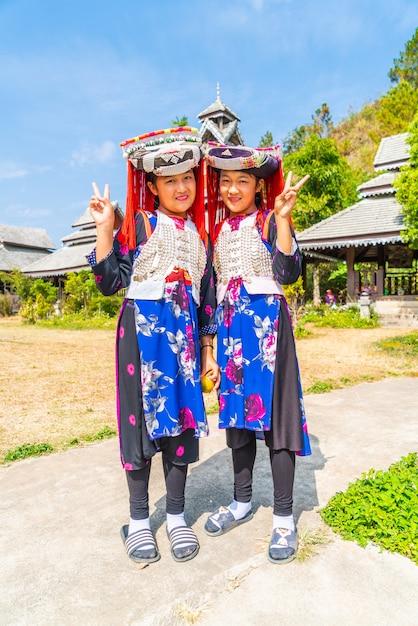 Дети хмонгов с носовой слизью Premium Фотографии