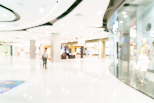 抽象的なぼかしショッピングモールまたはデパートのインテリア Premium写真