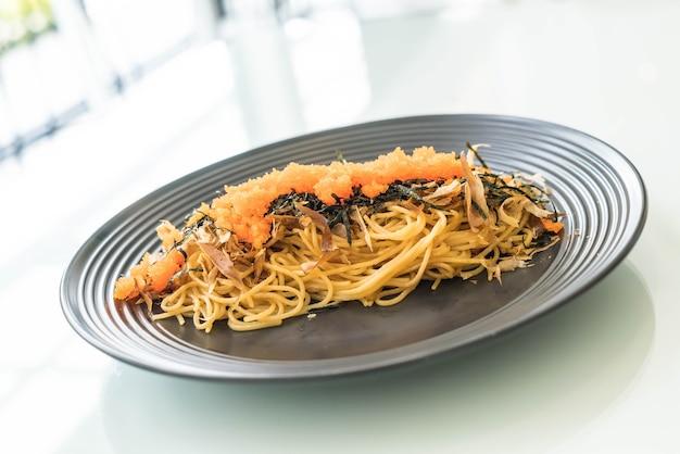 トビコとスパゲッティジャパンソーセージ 無料写真