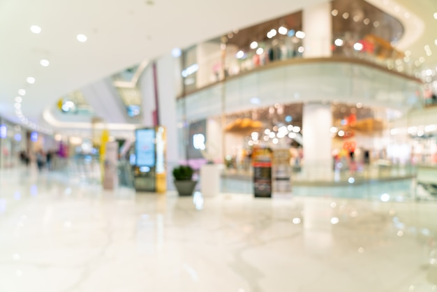 抽象的なぼかしと多重の高級ショッピングモール Premium写真