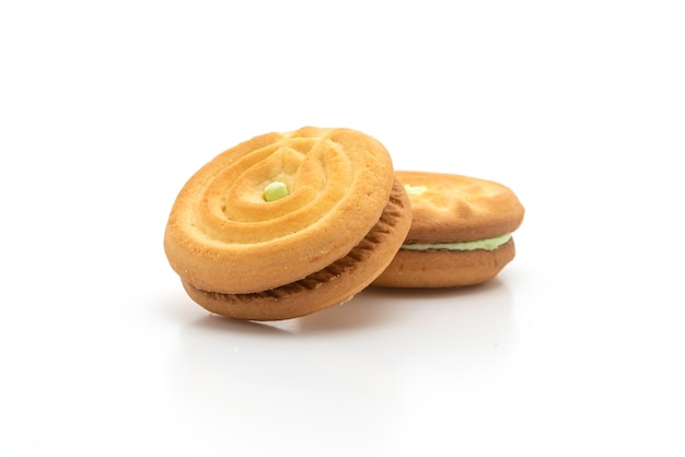 パンダンクリームとクッキー Premium写真