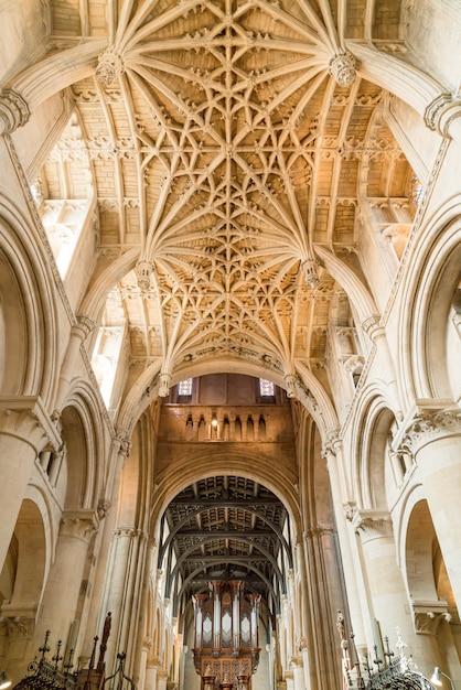 美しい建築キリスト教会大聖堂オックスフォード、英国 Premium写真