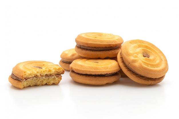 チョコレートクリームとクッキー Premium写真