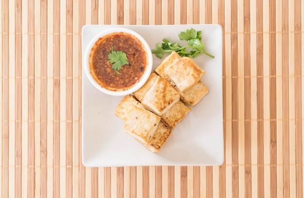 Жареный тофу - здоровая пища Бесплатные Фотографии