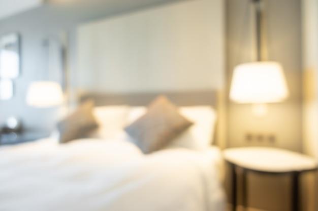 Абстрактный размытия интерьер спальни для фона Premium Фотографии
