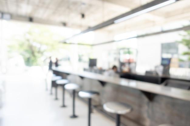 抽象的なぼかしコーヒーショップとカフェレストラン Premium写真