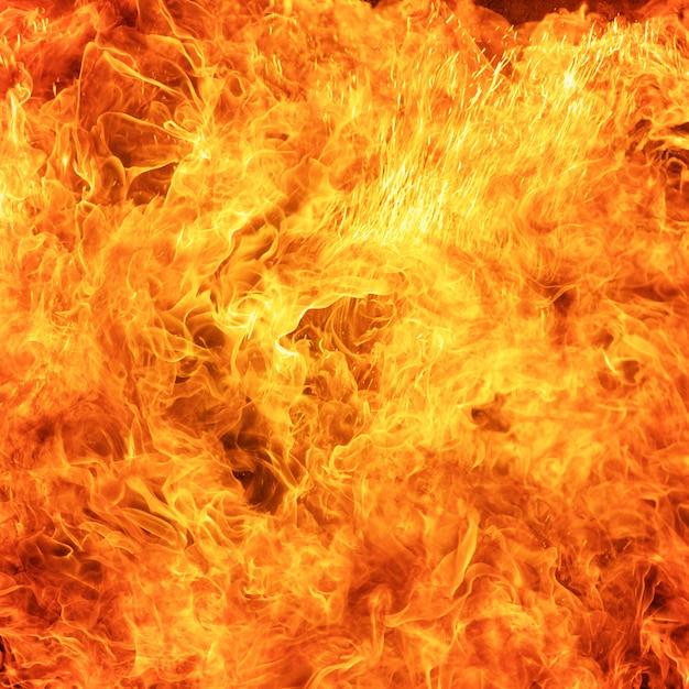 抽象的な炎火炎テクスチャ背景 Premium写真