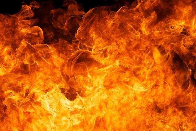 炎火の炎のテクスチャ背景 Premium写真