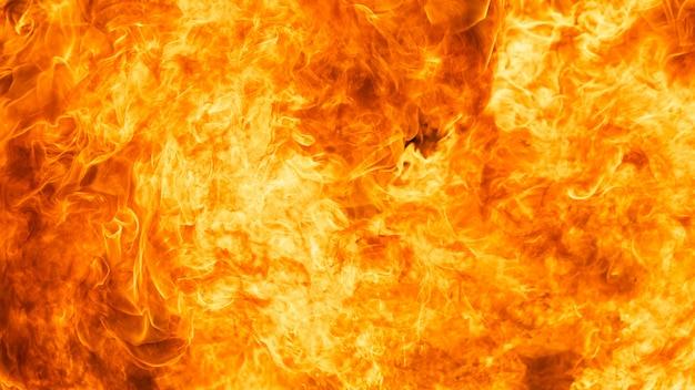 ブレイズ火炎テクスチャ背景 Premium写真