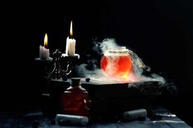 Магия и концепция волшебства. Premium Фотографии