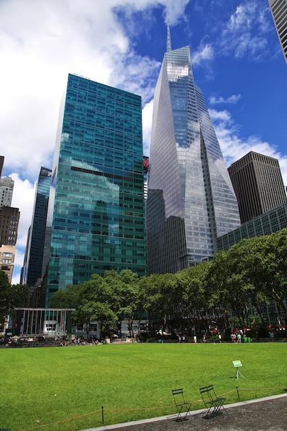 Здание в нью-йорке, сша Premium Фотографии