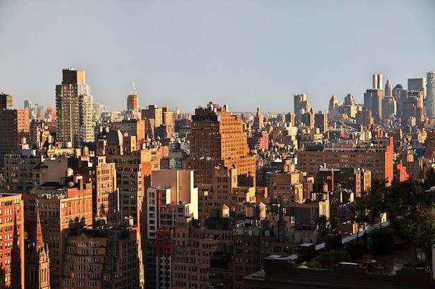 Вид на нью-йорк, сша Premium Фотографии
