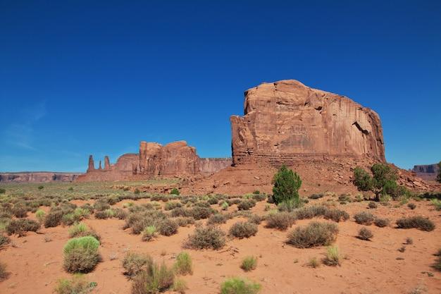 ユタ州とアリゾナ州のモニュメントバレー Premium写真