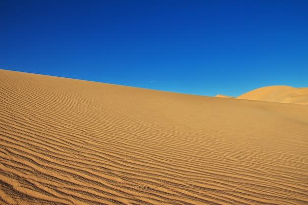 アフリカの中心にあるサハラ砂漠の砂丘 Premium写真