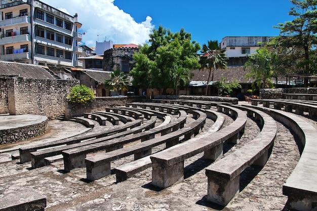 Каменный город является столицей на занзибаре, танзания Premium Фотографии