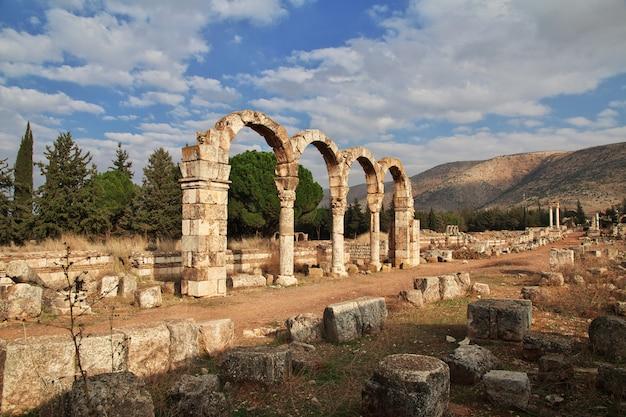 アンジャール、レバノンのローマ時代の遺跡 Premium写真