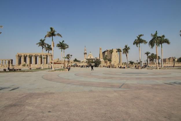 Древний луксорский храм в городе луксор, египет Premium Фотографии