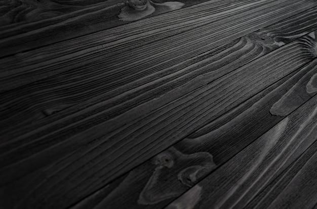 Черная текстура древесины Premium Фотографии