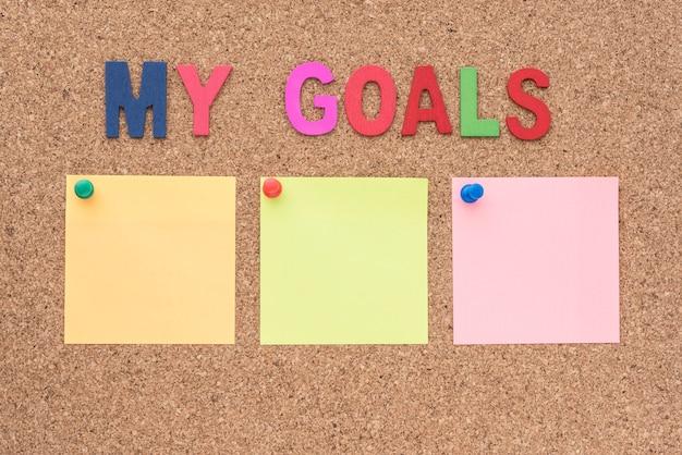 メモ帳で私の目標を語る 無料写真