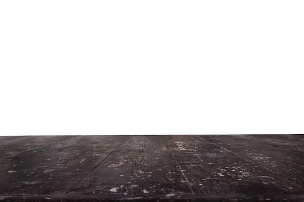 背景なしの暗い厚板で作られたテーブル 無料写真