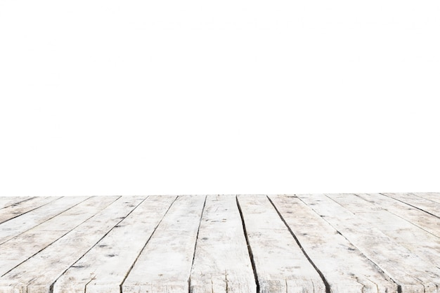 背景なしの古い白い厚板で作られたテーブル 無料写真