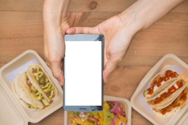 Мексиканская еда отнять экологически чистые Premium Фотографии