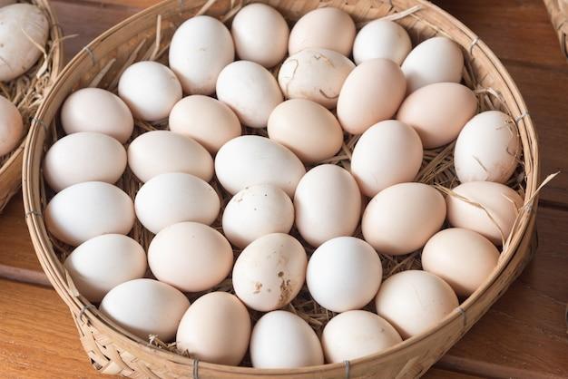 Утиные яйца Premium Фотографии
