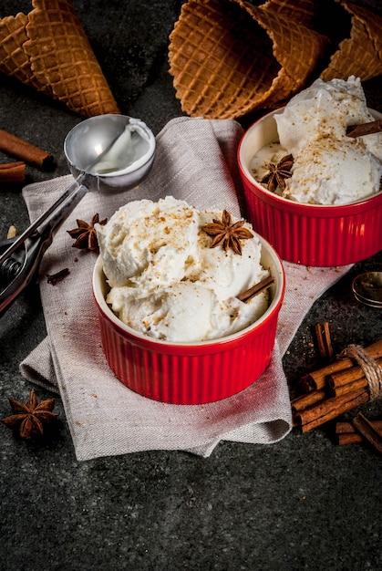 自家製エッグノッグアイスクリーム Premium写真