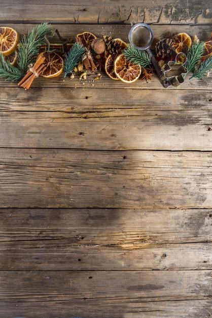 Фестиваль рождественской выпечки фон Premium Фотографии