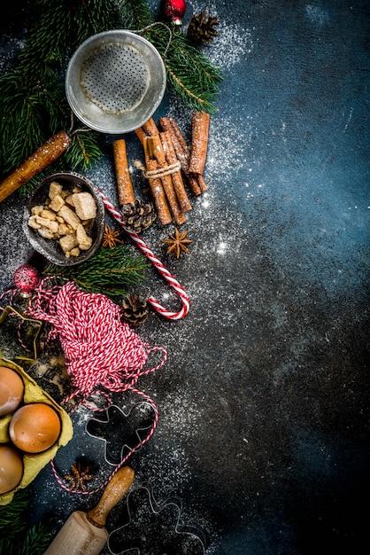 Рождественская выпечка Premium Фотографии
