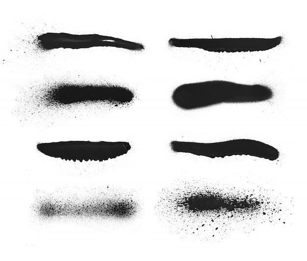 От руки простой спрей краска граффити текстуры. чернила элемент гранж Premium Фотографии